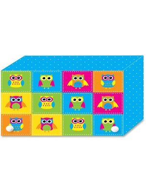 Ashley Colorful Owls Index Card Holder - For Index Card 4