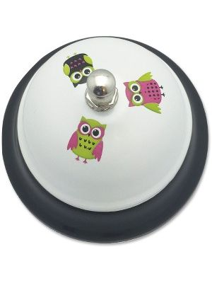 Ashley White Owls Call Bell - 3