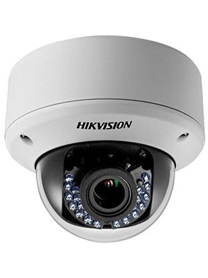 Hikvision Turbo HD DS-2CE56D5T-AVPIR3 2 Megapixel Surveillance Camera - Color, Monochrome - 131.23 ft Night Vision - 1920 x 1080 - 2.80 mm - 12 mm - 4.3x Optical - CMOS - Cable - Dome