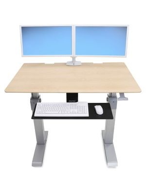 Ergotron WorkFit-DL 48, Sit-Stand Desk (Maple) - Maple Rectangle Top - 2 Legs - 48