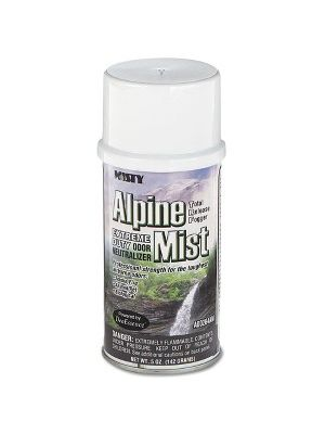 MISTY Alpine Mist Extreme Duty Odor Neutralizer - Spray - 6000 ft³ - 10 fl oz (0.3 quart) - 12 / Carton - Ozone-safe, Odor Neutralizer