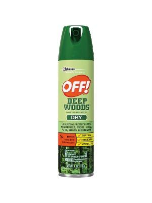 OFF! Diversey Care Off! Deep Woods Dry Insect Repellent - Spray - Kills Mosquitoes, Ticks, Flies, Gnats, Chiggers - 4 fl oz - Clear