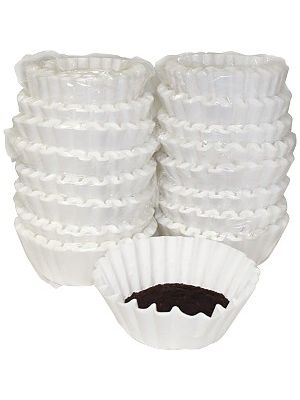 Melitta Basket-style Coffeemaker Coffee Filters - Heavyweight, Tear Resistant, Disposable, Compostable - 800 / Box - White