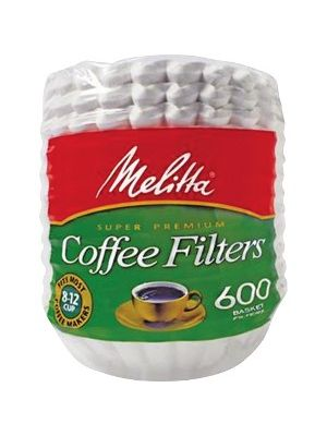 Melitta Super Premium Basket-style Coffee Filter - Heavyweight, Tear Resistant, Disposable, Compostable - 600 / Pack - White
