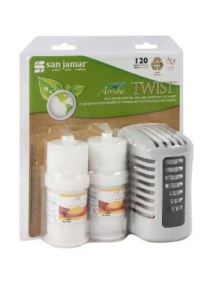 San Jamar Twist Air Care Freshener - Mango Burst - 44883.12 gal Coverage - 1 Each - White
