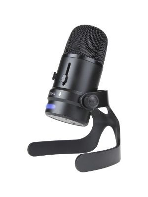 Cyber Acoustics CVL-2004 Microphone - 20 Hz to 20 kHz - Wired - 4.92 ft - Condenser - Cardioid, Directional, Omni-directional - Stand Mountable - USB