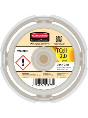 Rubbermaid Commercial TCell System Fragrance Refill - 6000 ft³ - Citrus Zest - 45 Day - 6 / Carton - Odor Neutralizer