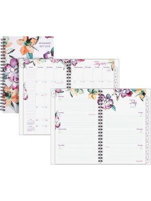 At-A-Glance June Academic Weekly Monthly Planner - Medium Size - Academic - Julian - Monthly, Weekly - 1 Year - July 2018 till June 2019 - 1 Week, 1 Month Double Page Layout - 4 7/8