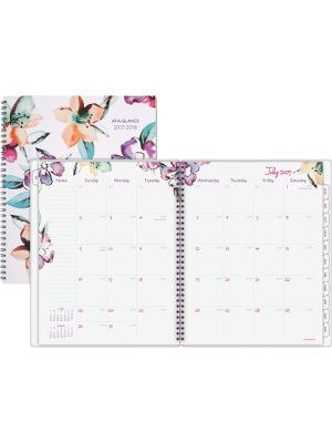 At-A-Glance June Academic Monthly Planner - Academic - Julian - Monthly, Weekly - 1 Year - July 2018 till June 2019 - 1 Month Double Page Layout - 8 1/2