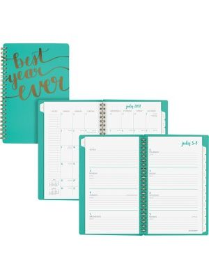 At-A-Glance Aspire Academic Weekly/Monthly Planner - Medium Size - Academic - Julian - Monthly, Weekly, Daily - 1 Year - July 2018 till June 2019 - 1 Week, 1 Month Double Page Layout - 8