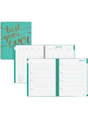 At-A-Glance Aspire Academic Weekly/Monthly Planner - Large Size - Academic - Julian - Monthly, Weekly, Daily - 1 Year - July 2018 till June 2019 - 1 Week, 1 Month Double Page Layout - 11