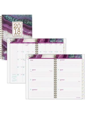 At-A-Glance Agate Weekly/Monthly Planner - Professional - Julian - Monthly, Daily, Weekly - 1 Year - January till December - 1 Week, 1 Month Double Page Layout - 8