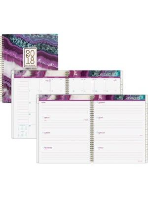 At-A-Glance Agate Weekly/Monthly Planner - Julian - Monthly, Daily, Weekly - 1 Year - January till December - 1 Week, 1 Month Double Page Layout - 9