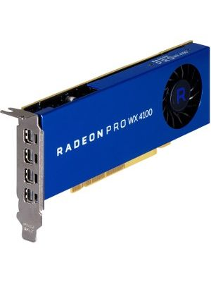HP Radeon Pro WX 4100 Graphic Card - 4 GB GDDR5 - 128 bit Bus Width - 4 x Mini DisplayPort - Linux, PC