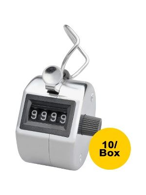 Sparco Finger Ring Tally Counter - 4 Digit - Finger Ring - Handheld - Nickel Plated - Silver