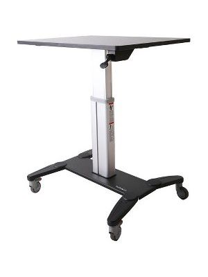 StarTech.com Mobile Sit Stand Workstation with 31.5