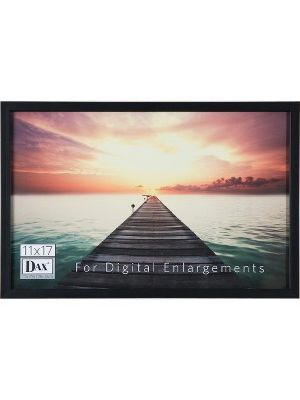 DAX Digital Enlargement Black Wood Frame - Digital Frame - Black - Protective Glass - Wall Mountable
