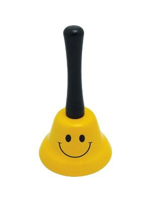 Ashley Smiley Face Design Wide Hand Bell - - Metal - Assorted Color