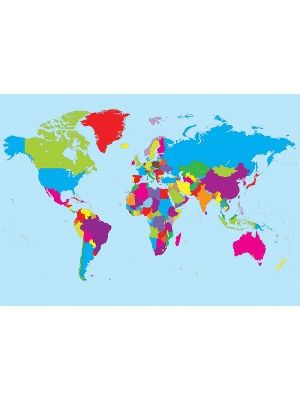 Ashley Magnetic World Map - 39.4 ft Width x 17