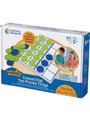 Learning Resources Connecting Ten-Frame Trays - Theme/Subject: Learning - Skill Learning: Visual, Mathematics, One-to-One Correspondence, Counting, Addition, Subtraction, Multiplication, Number, Place Value, Tactile Discrimination, Fine Motor