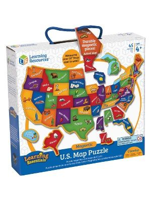 Learning Resources Magnetic US Map Puzzle - 19