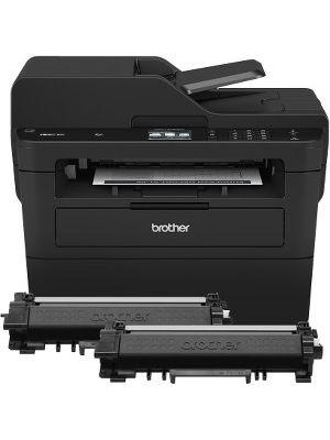 Brother MFC-L2750DW XL Extended Print Compact Laser All-in-One Printer with up to 2 Years of Toner In-box - Copier/Fax/Printer/Scanner - 36 ppm Mono Print - 2400 x 600 dpi Print - Automatic Duplex Print - 1 x Input Tray 250 Sheet, 1 x Automatic Document