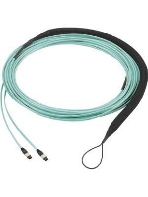 Panduit Fiber Optic Network Cable - Fiber Optic for Network Device - 300 ft - 1 Pack - MPO Female Network - MPO Female Network - 50/125 µm - Aqua
