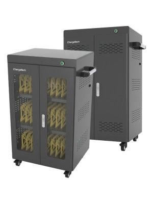 ChargeTech AC Powered UV Charging Cabinet - 4 Casters - 26.2