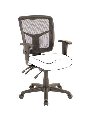 Lorell Mid-Back Chair Frame - Black - 1 Each