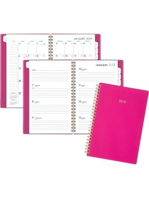 At-A-Glance Cambridge Color Bar Small Planner - Small Size - Julian - Weekly, Monthly - 1 Year - January till December - 1 Week, 1 Month Double Page Layout - 4 7/8