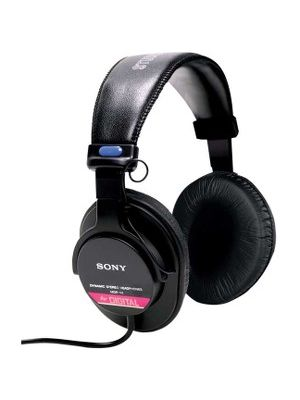 Sony MDR-V6 Studio Monitor Headphone - Wired - 63 Ohm - 50 Hz 30 kHz - Gold Plated - Binaural - Ear-cup - 10 ft Cable