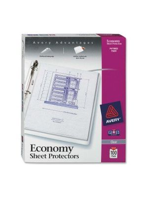Avery Economy Weight Sheet Protectors - For Letter 8 1/2