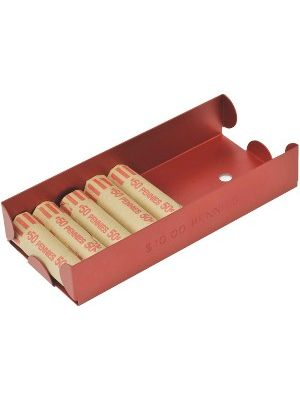 MMF Aluminum Coin Trays - 1 x Coin Tray - Red - Aluminum