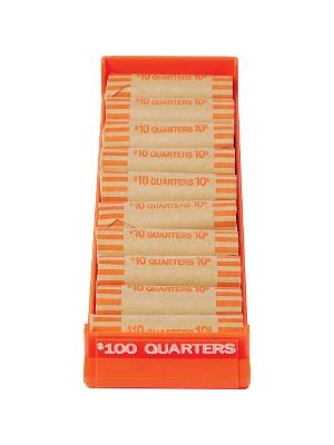 MMF Porta Count Coin Trays - 1 x Coin Tray - Orange - ABS Plastic