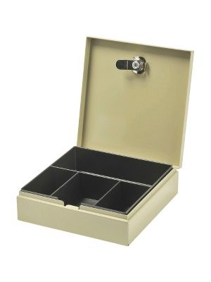 MMF Personal Security Box - 4 Bill - Steel - Sand - 2.3