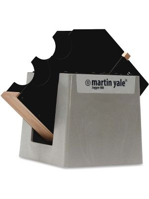 Martin Yale Premier Tabletop Paper Jogger - Support Letter, Legal Sheet - Tilted Tray - 115 V AC