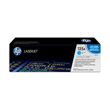 HP 125A Original Toner Cartridge - Single Pack - Laser - 1400 Pages - Cyan - 1 Each