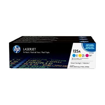 HP 125A Original Toner Cartridge - Tri-pack - Laser - 1400 Pages Cyan, 1400 Pages Magenta, 1400 Pages Yellow - Multicolor