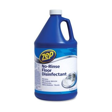 Zep No Rinse Floor Disinfectant - Liquid - 1 gal (128 fl oz) - 1 Each - Blue