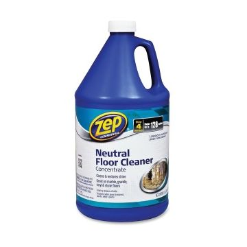 Zep Concentrated Neutral Floor Cleaner - Liquid - 1 gal (128 fl oz) - 1 Each - Blue