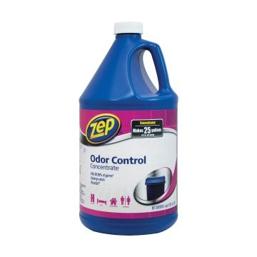 Zep Commercial Odor Control Concentrate - Liquid - 1 gal (128 fl oz) - Fresh, Lemon ScentBottle - 1 Each - Blue
